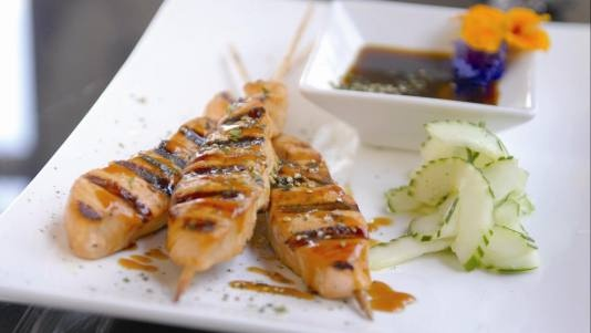 Soy-Grilled Salmon Skewers | Recipe