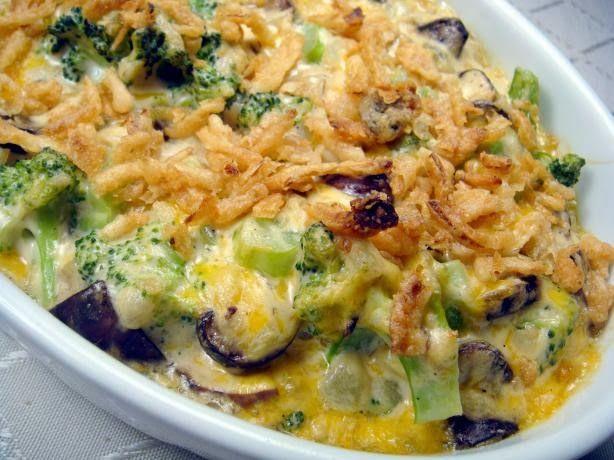 Broccoli & Mushroom Casserole | Food | Pinterest