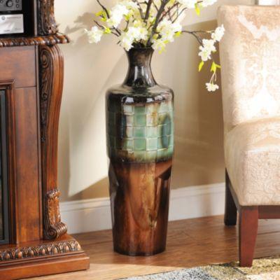Blue Copper Ombre Metal Floor Vase Copper Vase And Ombre