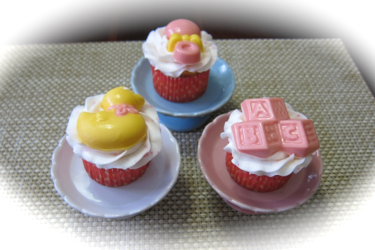 baby shower using chocolate molds my cupcake creations pinterest