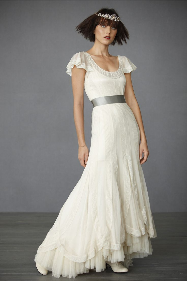 Victoria's Reign Gown at BHLDN...love the vintage styling.....♥