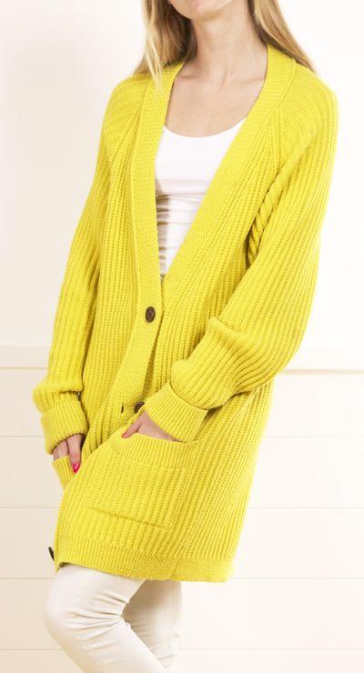 Cute Oversized Yellow Sweater