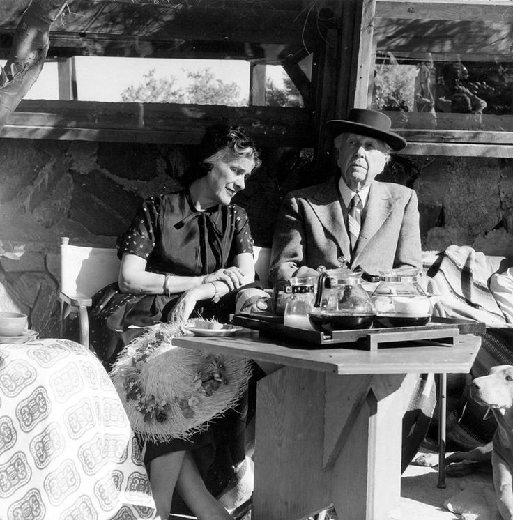 #FrankLloydWright and his wife, Olgivanna, at Taliesin West in 1958.  Photograph by John Amarantides, the Frank Lloyd Wright Foundation Archives (The Museum of Modern Art | Avery Architectural & Fine Art Library, Columbia University, New York).