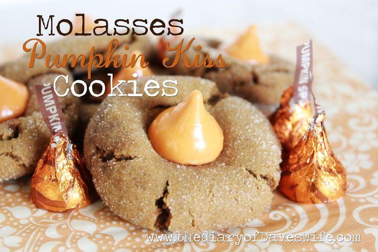 molasses pumpkin kiss cookies | Fall desserts | Pinterest