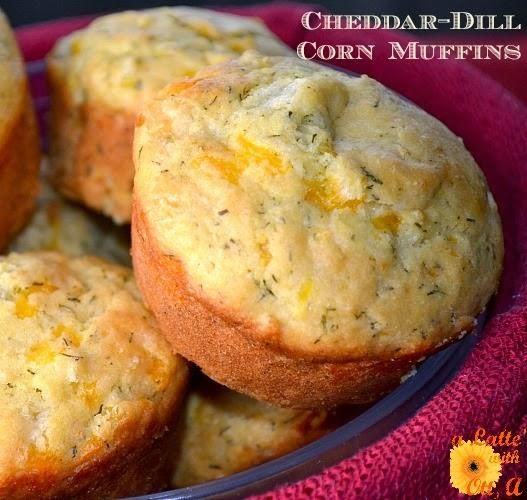 Cheddar-Dill Corn Muffins (taste great alongside some chili or BBQ)