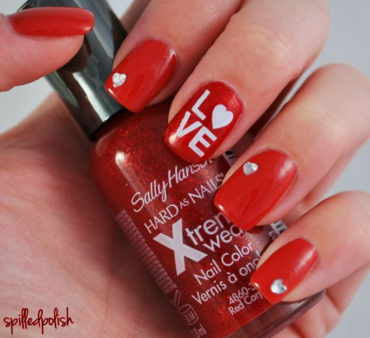 valentine's day easy nail designs