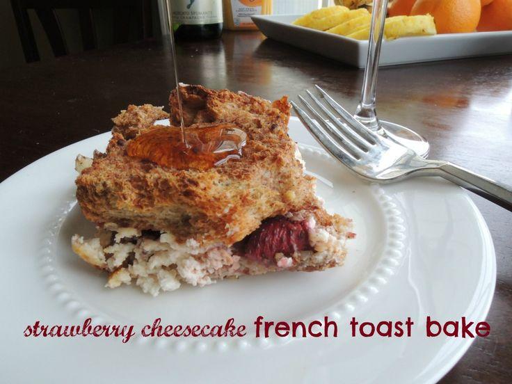 Strawberry Cheesecake French Toast Bake Dietdeepdish.com