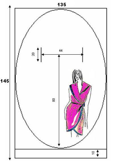 Выкройка простого халата