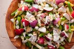 Radish and Wax Bean Salad with Crème Fraîche Dressing Recipe - This ...