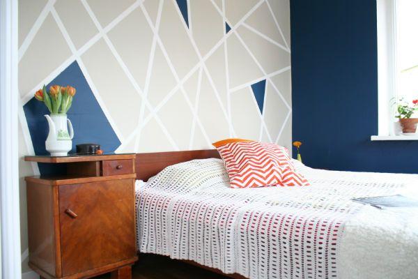 Navy Blue Grey White Orange Bedroom Home Furnishings Pinterest