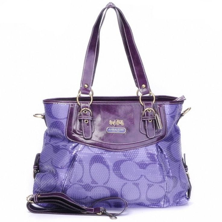 purple coach purse, wantwantwant