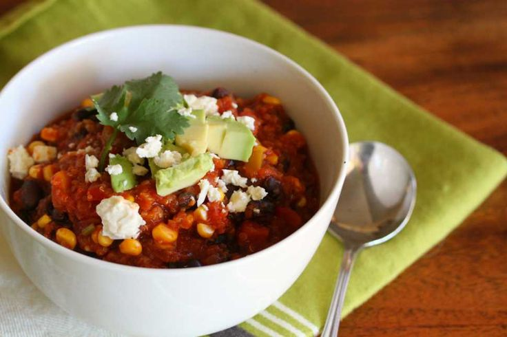 Tenina: Black Bean And Quinoa Chili | Thermomix Recipes | Pinterest