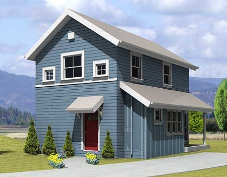 969 Sq Ft With Small Footprint Small House Plans
