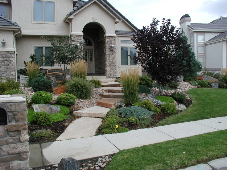 Interesting front landscape curb appeal pinterest for Curb appeal landscaping