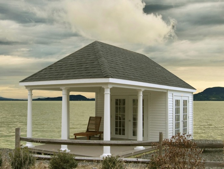 Hip roof with porch garage pinterest for Hip roof garage