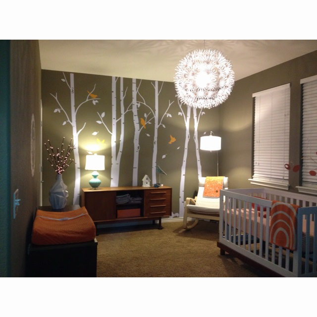 Mid century modern nursery kids rooms pinterest for Modern nursery images