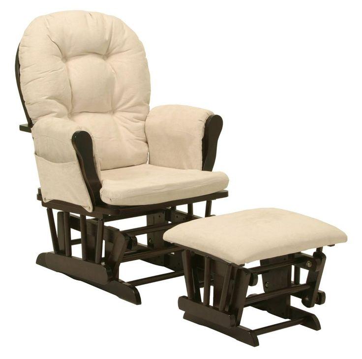 and ottoman set rocker rocking chair furniture wood child cushion seat