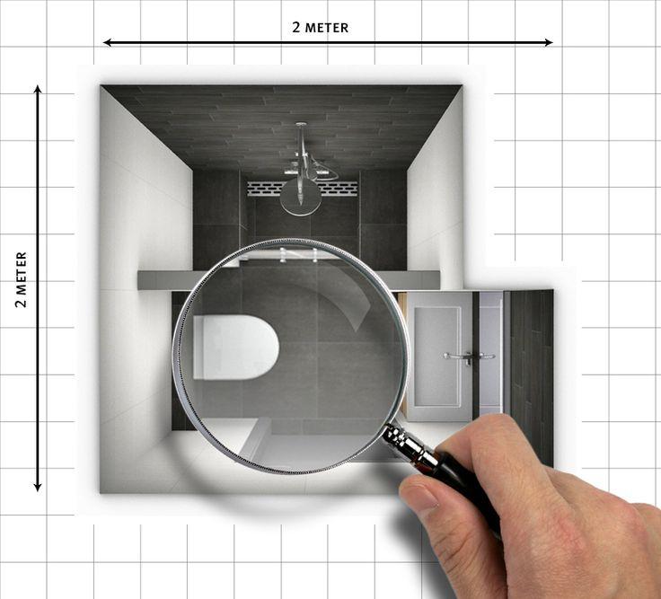 Tips voor het groter laten lijken van een kleine badkamer - Kleine badkamer wc ...