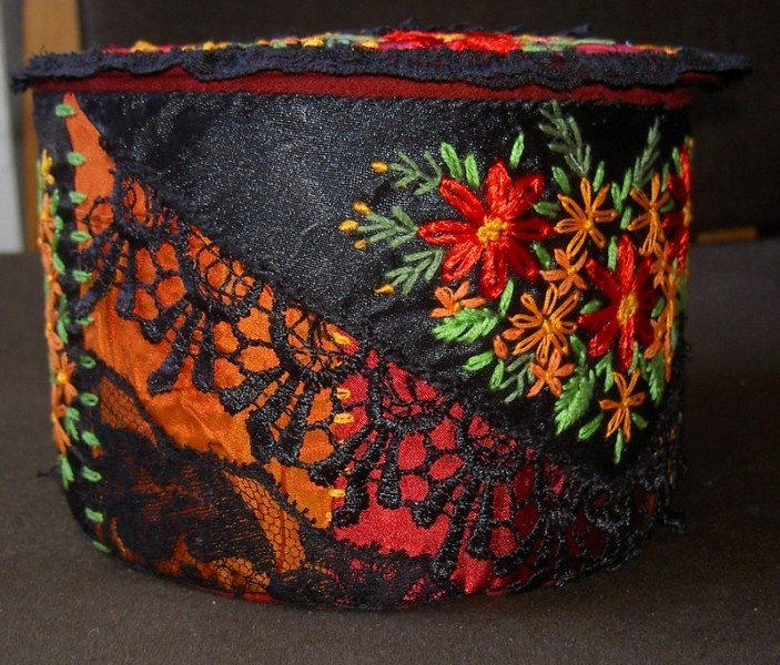 crazy quilted box