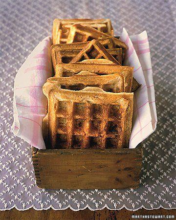 Cinnamon Sugar Waffles -The cinnamon sugar bakes into a sweet, crunchy ...