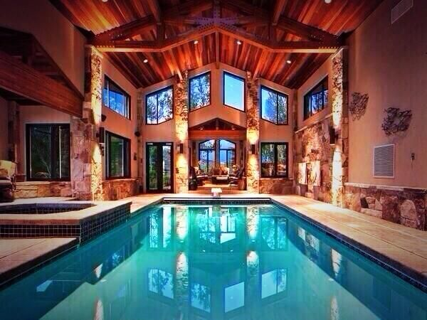 Indoor Pool Log Cabin Swag Swag Pinterest