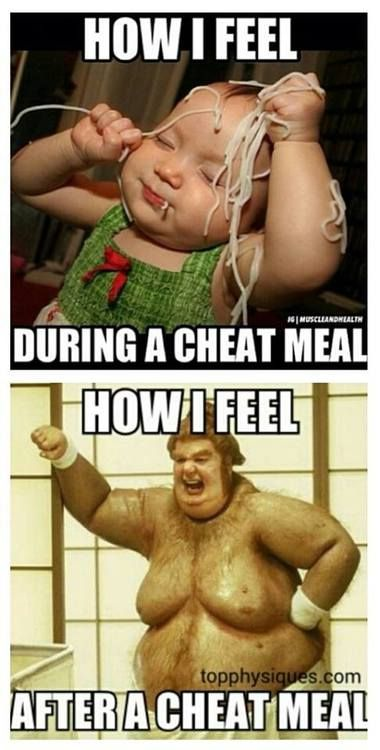 I don't believe in cheat meals, but this still tickled my funny.
