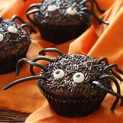 Spooky Spider Cupcakes- these cupcakes are good for your waistline ...
