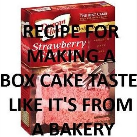 Make A Box Cake Taste Homemade