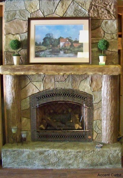 Pin by jodi giles on outside life pinterest for Concrete mantels and hearths