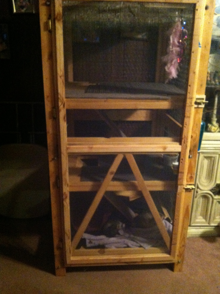 Homemade Chinchilla Cages Plans homemade ferret cage plans hecho