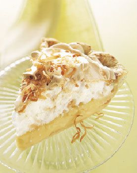 Lemon and Toasted Coconut Meringue Pie-Easter dessert