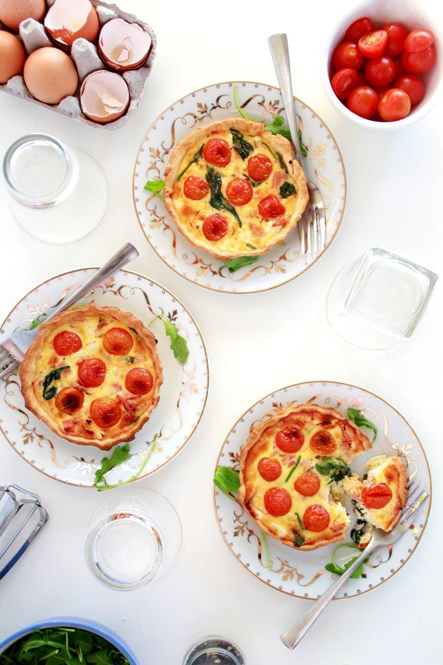 FETA, HAM AND SPINACH MINI QUICHE   Breakfast Recipes   Pinterest