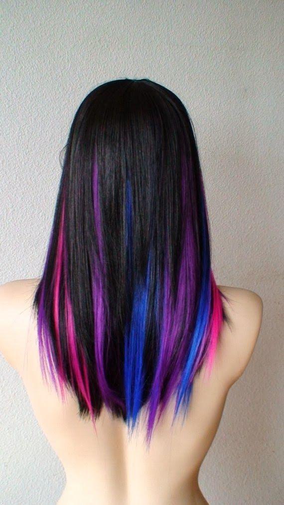 Purple pink blue black | Makeup, Hair and beauty | Pinterest