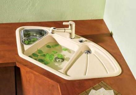 Corner Farmhouse Sink Kitchen : More like this: corner kitchen sinks , kitchen sinks and sink design .