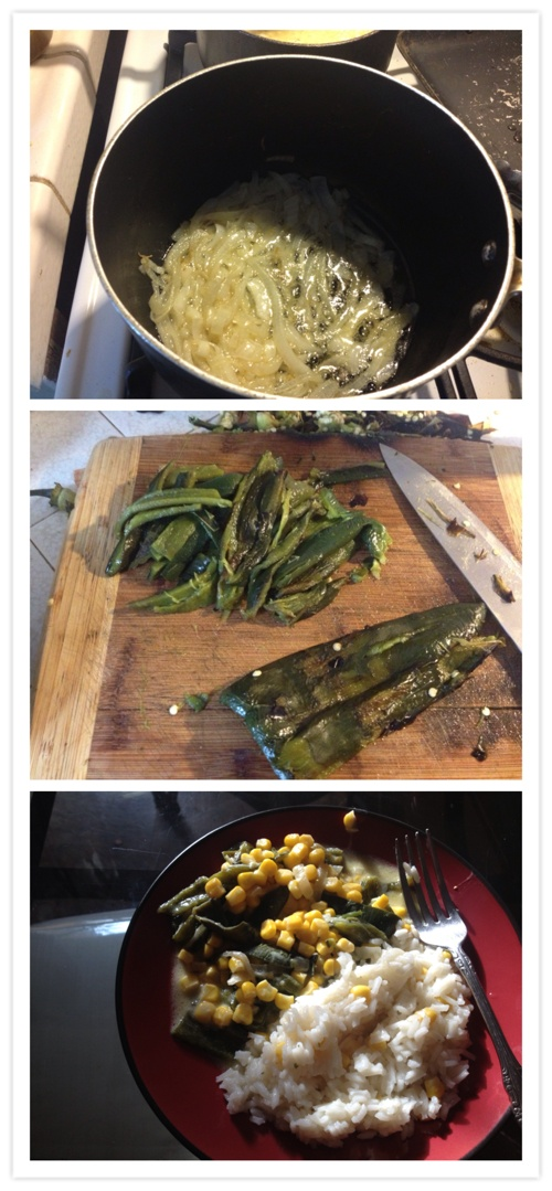 Rajas con crema and rice!!! #food | Recipes | Pinterest