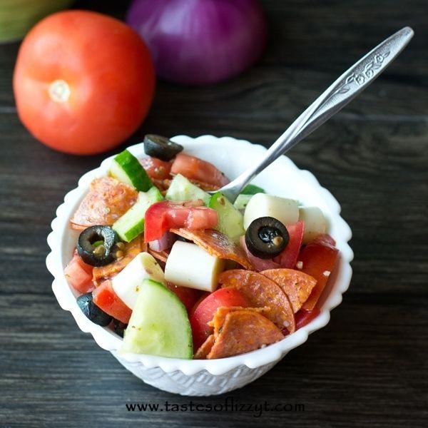 Smoked Mozzarella Tomato Salad