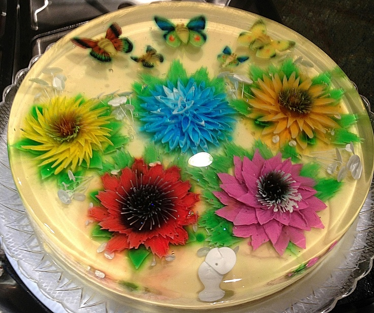 Gelatin Cake Art : Pin Gelatin Art Veining Sheet Butterfly Wings 2 New Cake ...