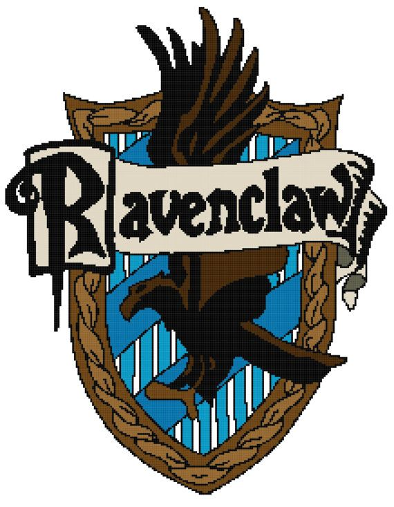 Harry Potter Ravenclaw House Crest cross stitch by funXstitch   10 00Ravenclaw House Crest