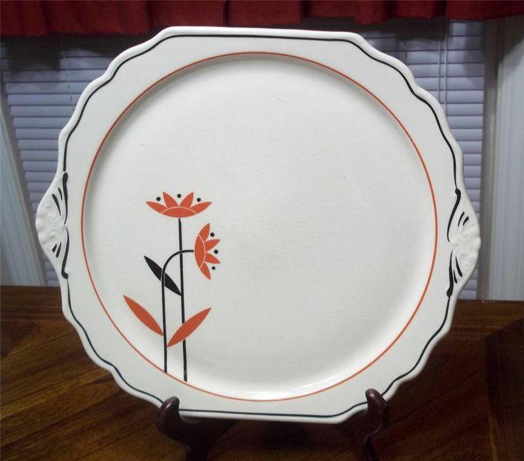 Harker Pottery Cake Plates