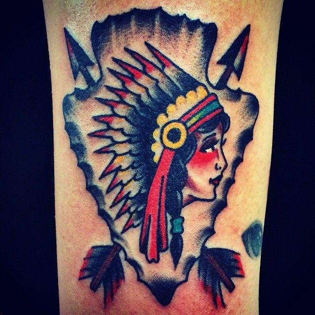 native american arrow tattoos. Black Bedroom Furniture Sets. Home Design Ideas
