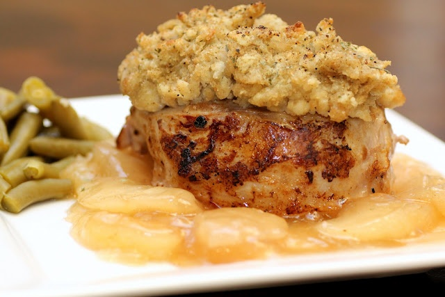 Apple Pork Chops with stuffing | Pinterest stuff I've made ...
