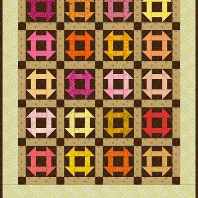 """Monkey Wrench Quilt Block Tutorial - 5"""", 7-1/2"""", 10"""" and"""