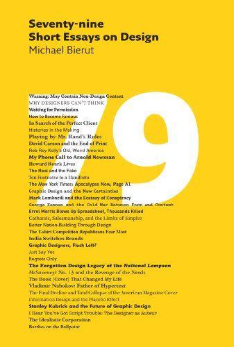 79 Short Essays on Design | Arts & Entertainment | Pinterest