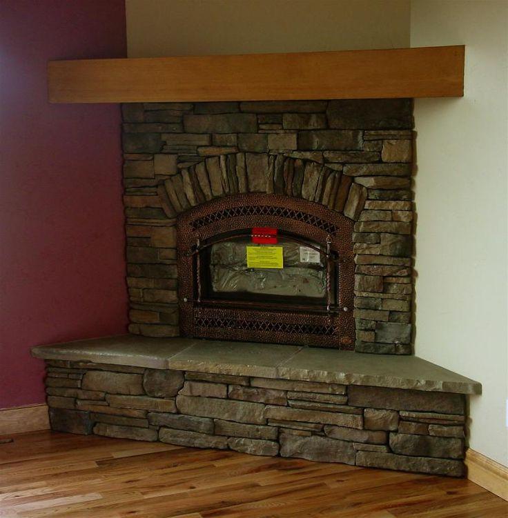 Stone fireplace corner google search lake house ideas for Corner stone fireplace