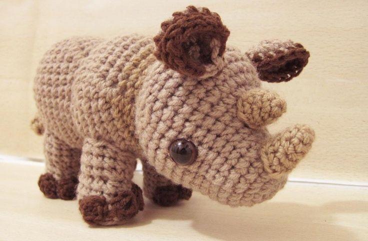 Crochet Star Wars Amigurumi Patterns : Amigurumi Rhylie the Rhino. Crochet Pinterest