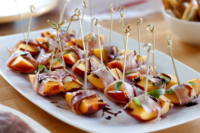 Balsamic and Proscuitto Peaches | For STARTERS | Pinterest