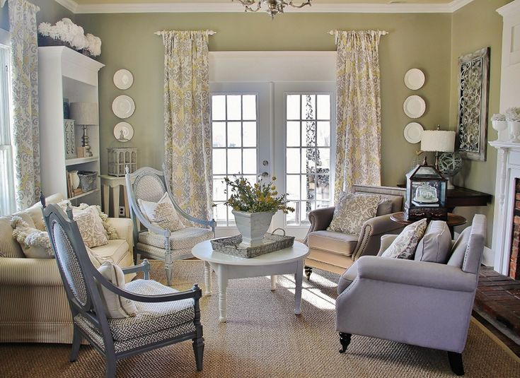 Gray and Yellow Library....perfect colors for spring!