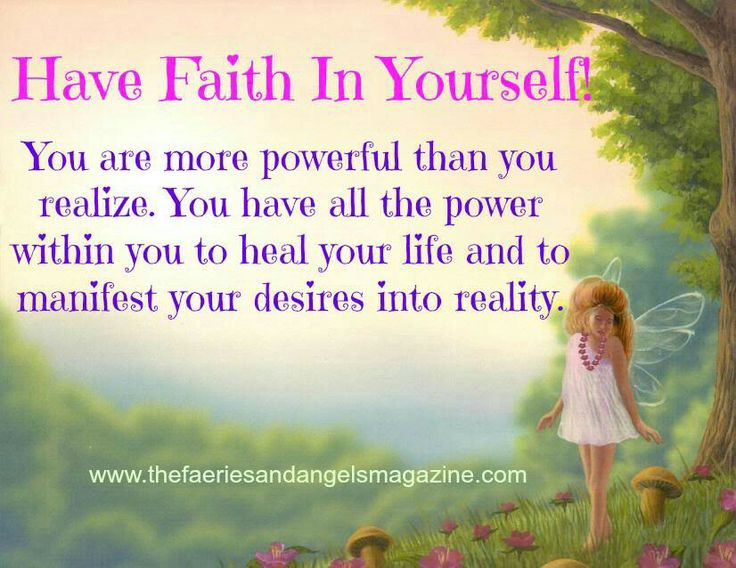 how to keep faith in yourself