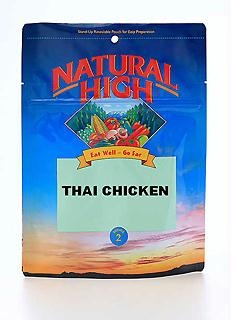 Thai Chicken has broccoli and spinach combined with chicken in a spicy ...
