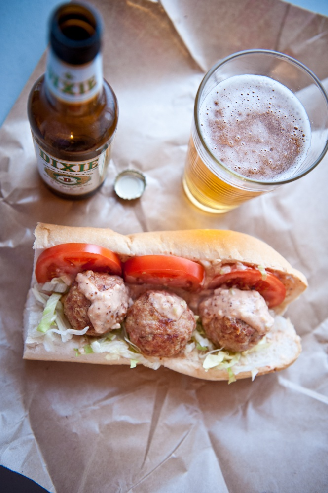 po boy at billy jack s po boys chicken and andouille po boy with